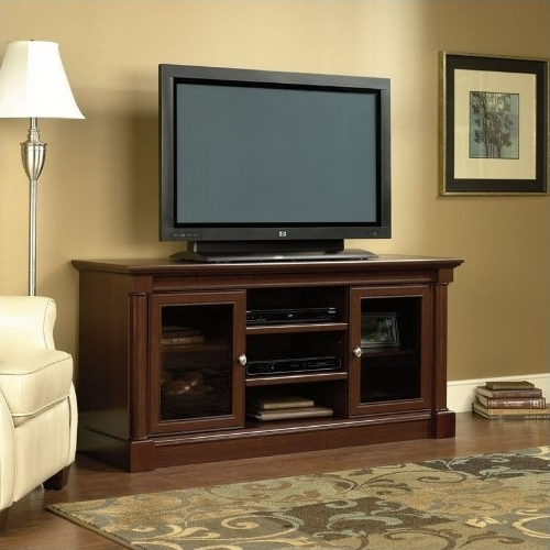 Trendy Cherry Tv Stands Inside Sauder Palladia Full Size Tv Stand In Cherry : Tv Stands – Best Buy (Gallery 15 of 20)