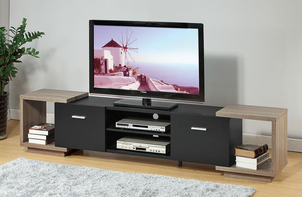 Trendy Contemporary Modern Tv Stands With Regard To Dubai Two Tone Modern Tv Stand (View 5 of 20)
