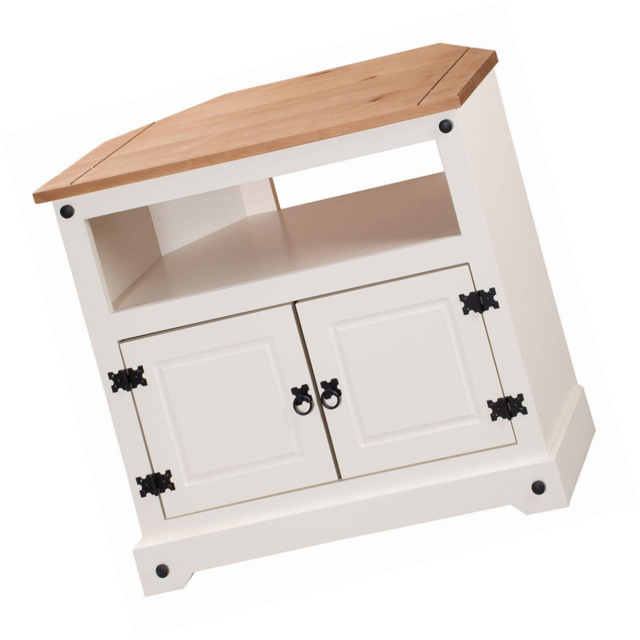 Trendy Cream Corner Tv Stands Within Mercers Furniture Corona Painted Corner Tv Unit – Cream Solid Pine (Gallery 19 of 20)