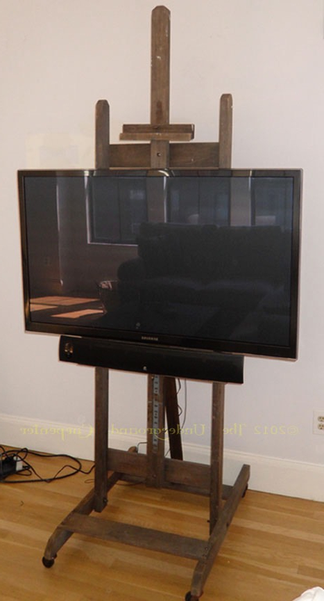 Trendy Easel Tv Stands For Flat Screens Regarding Flat Screen Tv Stand (Formerly Known As An Artist's Easel) (Gallery 1 of 20)