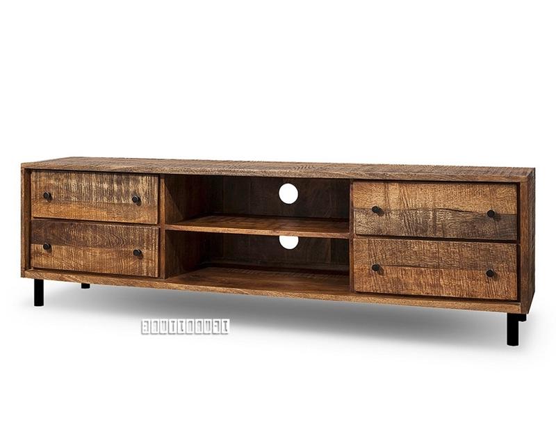 Trendy Freetown Solid Mango Wood Tv Unit Ifurniture The Largest Furniture Regarding Mango Tv Units (Gallery 6 of 20)