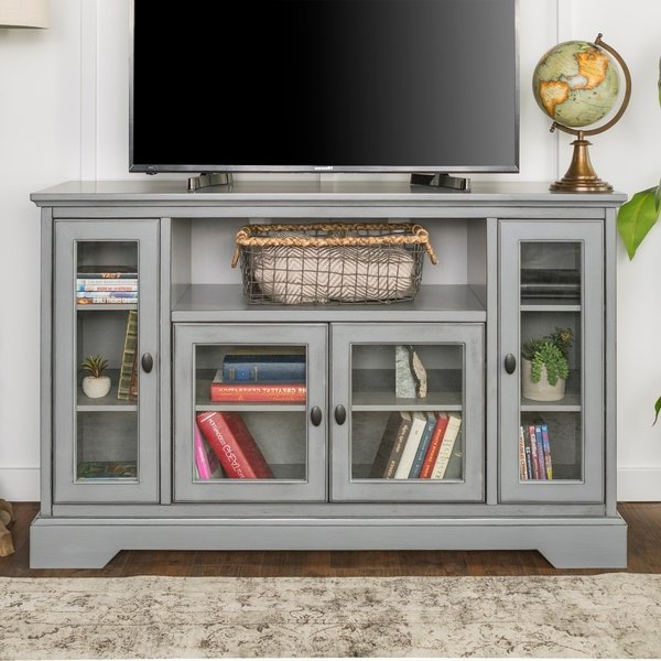 "Trendy Highboy Tv Stands Intended For Shop 52"" Highboy Tv Stand Console – 52 X 16 X 33H – Free Shipping (View 12 of 20)"