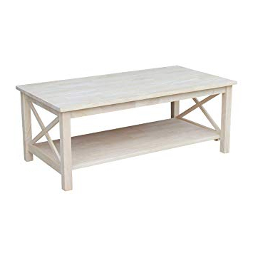 Trendy Layered Wood Small Square Console Tables Pertaining To Amazon: International Concepts Ot 70s Hampton Console Or Sofa (View 6 of 20)