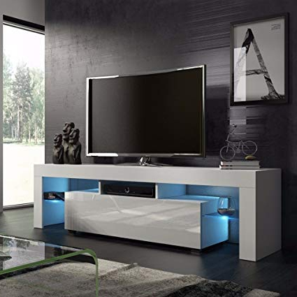 Trendy Led Tv Cabinets With Regard To Amazon: Homgrace Tv Stand Modern Led Tv Cabinets Home Decorative (Gallery 8 of 20)