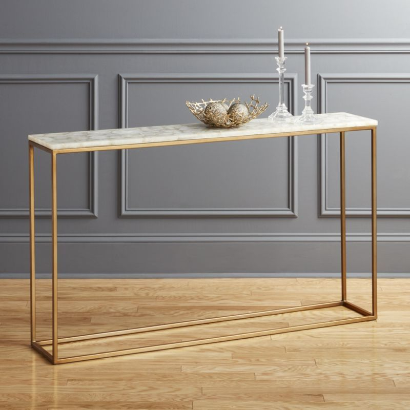 Trendy Mix Patina Metal Frame Console Tables In $299.00 Mill Console Table Narrow Depth – Google Search $ (View 6 of 20)