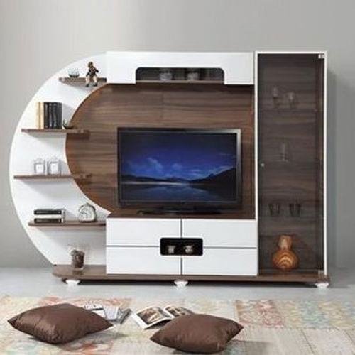 Trendy On The Wall Tv Units Throughout Brown And White Modular Wall Tv Unit, Warranty: 3 Year, Rs 1250 (Gallery 2 of 20)