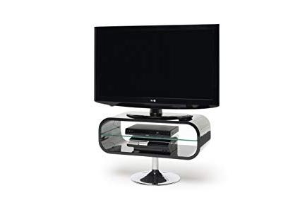 "Trendy Opod Tv Stand White Regarding Opod Op80B – Lcd & Plasma Tv Stand To 37"" – Gloss Black: Amazon (View 13 of 20)"