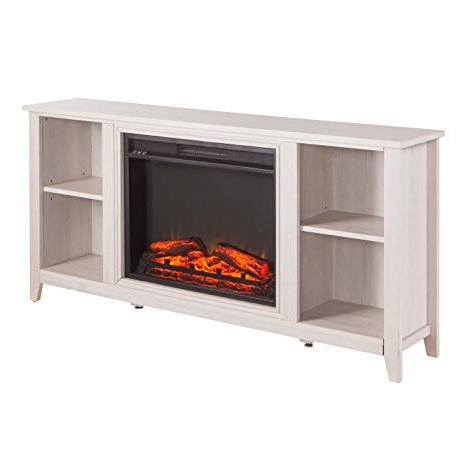 Trendy Orange Tv Stands Intended For Amazon: Persephone Electric Fireplace Tv Stand – Aiden Lane (View 16 of 20)