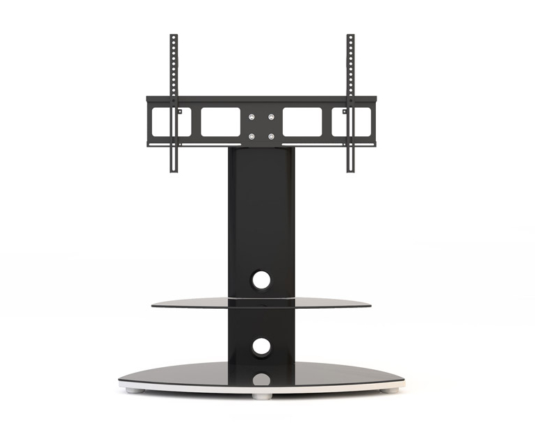 Trendy Oval White Tv Stands In Alphason Osmium Osmb800 Black Oval Tv Stand W/ Tv Bracket – Alphason (Gallery 19 of 20)
