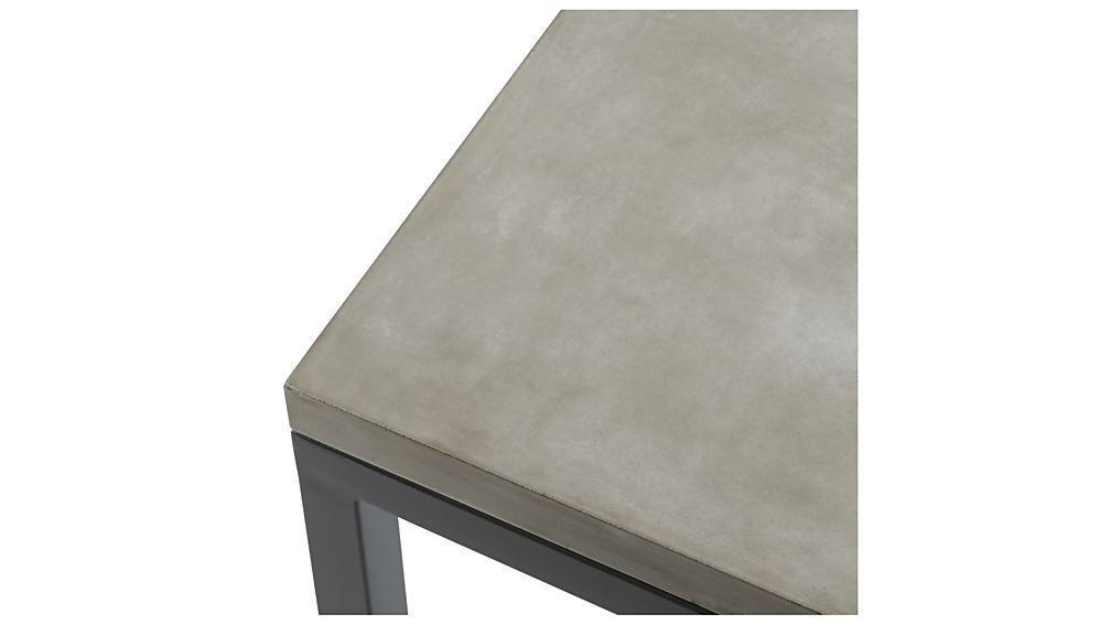 Trendy Parsons Concrete Top/ Dark Steel Base 48x28 Small Rectangular Coffee In Parsons Travertine Top & Elm Base 48x16 Console Tables (View 16 of 20)