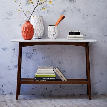 Trendy Parsons Grey Marble Top & Elm Base 48X16 Console Tables Intended For Reeve Mid Century Console In 2018 (Gallery 18 of 20)