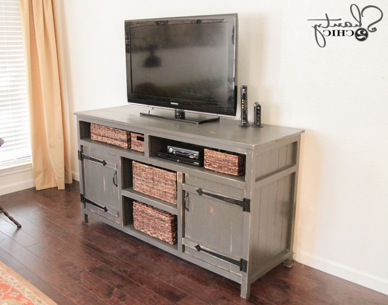 Trendy Rustic Looking Tv Stands Throughout 11 Free Diy Tv Stand Plans You Can Build Right Now (View 18 of 20)