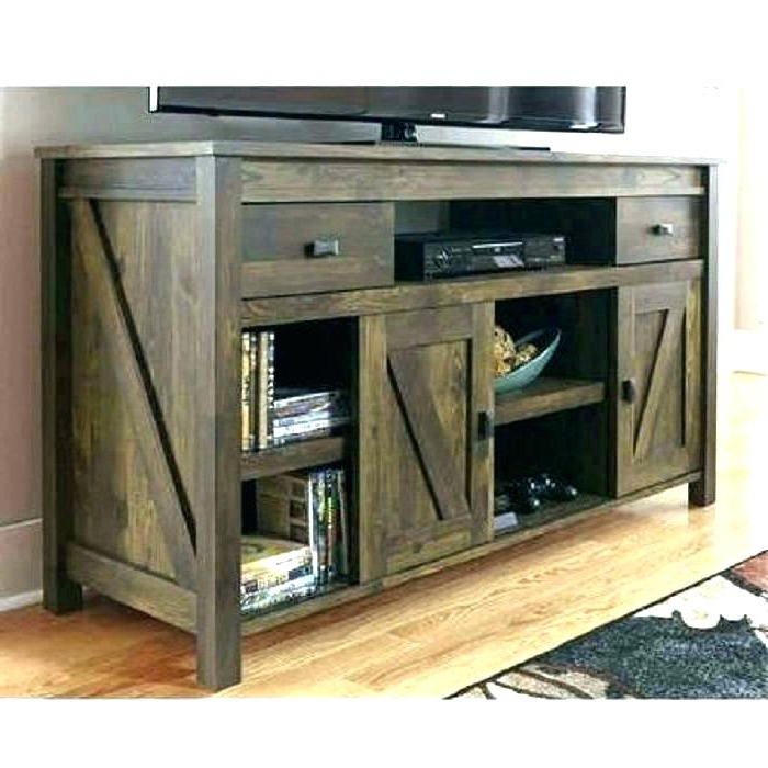 Trendy Rustic Tv Stand With Barn Doors Stands S Target Wood – Yourlegacy In Rustic Tv Stands (Gallery 19 of 20)