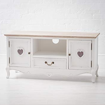 Trendy Shabby Chic Tv Cabinets Inside Maine Furniture Co. Vermont Shabby Chic French Style Tv Stand (Gallery 9 of 20)