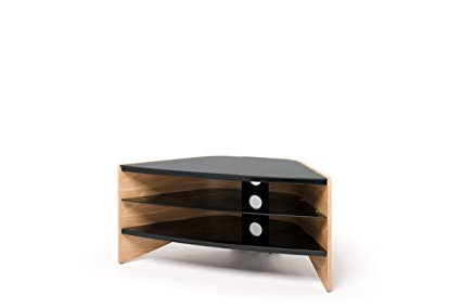 Trendy Techlink Corner Tv Stands Throughout Amazon: Techlink Riva Corner Tv Stand With Curved Side Panels (View 18 of 20)