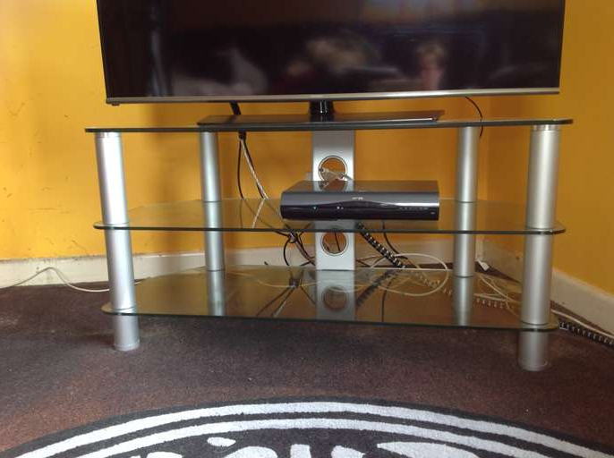 Trendy Telly Tv Stands With Freelywheely: Philips T.v. Stand Fits An 42Inch Telly. (Gallery 16 of 20)