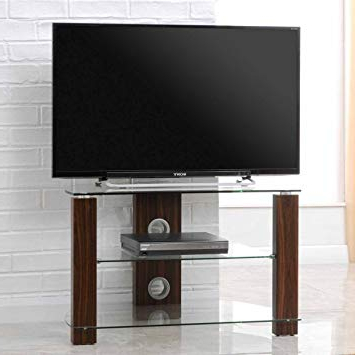 Trendy Tnw 36561 Vision 800 Corner Tv Stand – Walnut: Amazon.co (View 6 of 20)