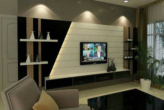 Trendy Top 40 Modern Tv Cabinets Designs – Living Room Tv Wall Units 2019 In Modern Tv Cabinets Designs (View 17 of 20)