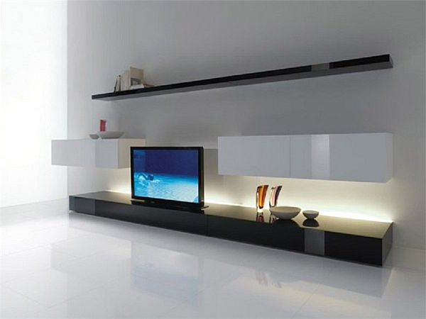 Trendy Tv Stands Throughout 2017 Minimalist Tv Stands In Trendy Living Room Interiors (Gallery 4 of 20)
