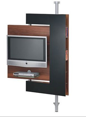 Trendy Upright Tv Stands With Regard To Diecollection's Media Stand Keeps Your Tv Upright And Doing The (View 16 of 20)