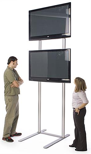 Trendy Very Tall Tv Stands With 10' Tall Tv Stand – Holds (2) Monitors (Gallery 4 of 20)