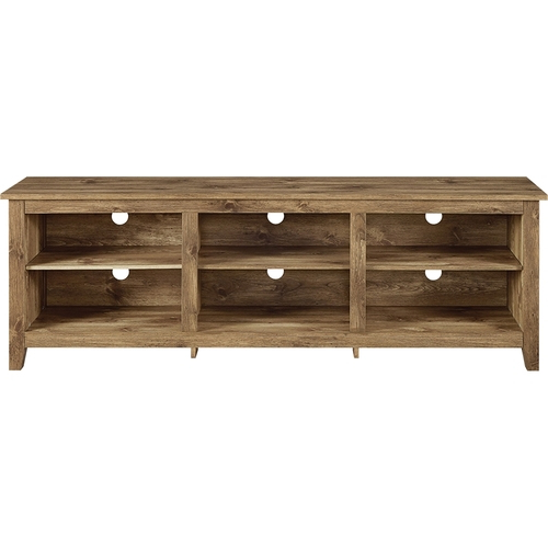 "Trendy Walker Edison Wood Tv Stand For Flat Panel Tvs Up To 70"" Brown With Regard To Wood Tv Stands (View 5 of 20)"