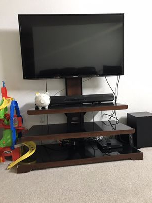 Trendy Walton 74 Inch Open Tv Stands With New And Used Tv Stands For Sale – Offerup (View 11 of 20)