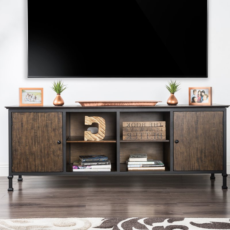 "Trendy Walton Grey 72 Inch Tv Stands For 17 Stories Johntai Tv Stand For Tvs Up To 72"" & Reviews (View 3 of 20)"