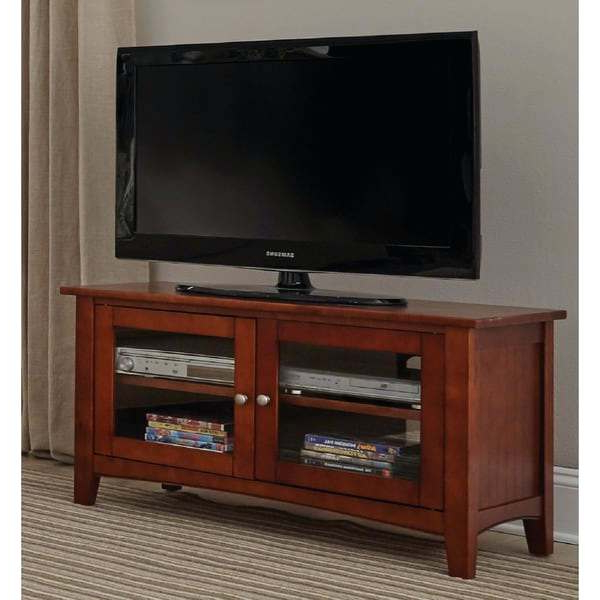 Trendy Wooden Tv Cabinets With Glass Doors Intended For Wood Television Cabinet – Rlci (View 11 of 20)