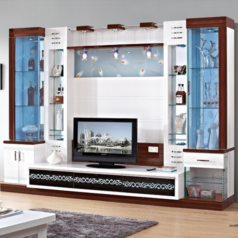 Tv Cabinet Cover Tv Cabinet Modern Brief Fashion Glass Cabinet  Office Wine Cooler Display Cabinet Tv Wall Unit In Tv Stands From Furniture (Gallery 11 of 20)