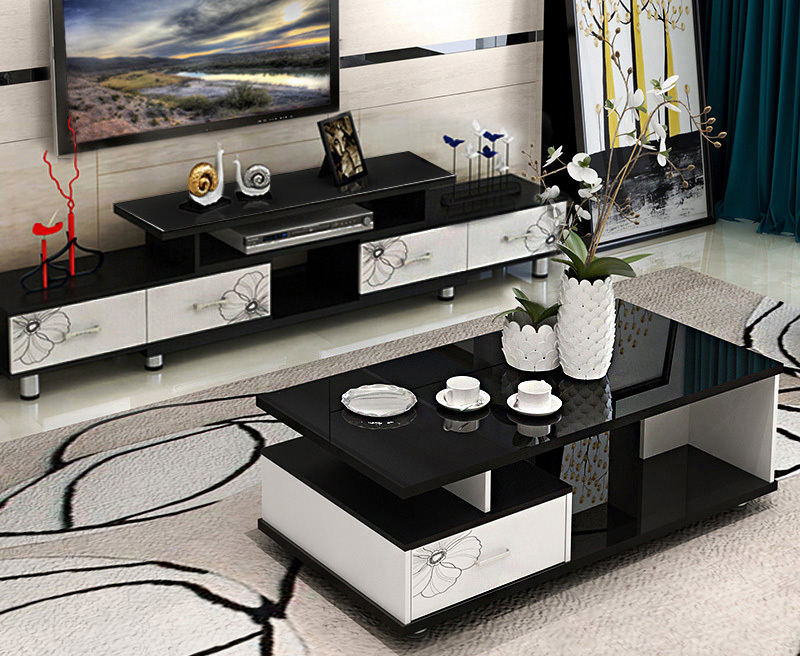 Tv Cabinets And Coffee Table Sets Intended For Trendy High Gloss Tv Cabinet & Side Table Combo (View 13 of 20)