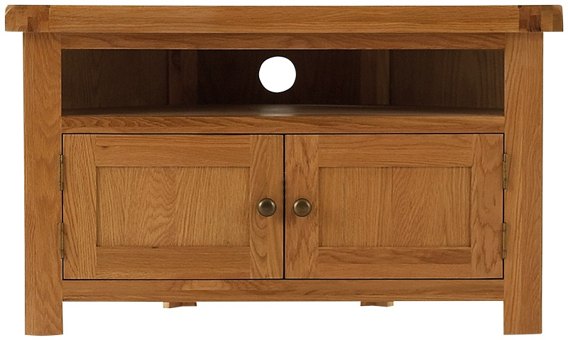 Tv Cabinets : Oldbury Rustic Oak Corner Tv Unitoldbury Rustic Oak For Most Recently Released Rustic Wood Tv Cabinets (View 16 of 20)