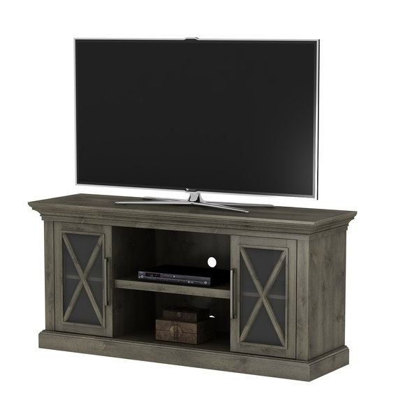 Tv Cabinets With Glass Doors With 2017 Cherry Tv Stands You'll Love (Gallery 6 of 20)