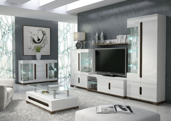Tv Display Cabinets In Recent White Gloss Tv Display Unit With Lights – Tv Cabinets – Best Deal (Gallery 3 of 20)