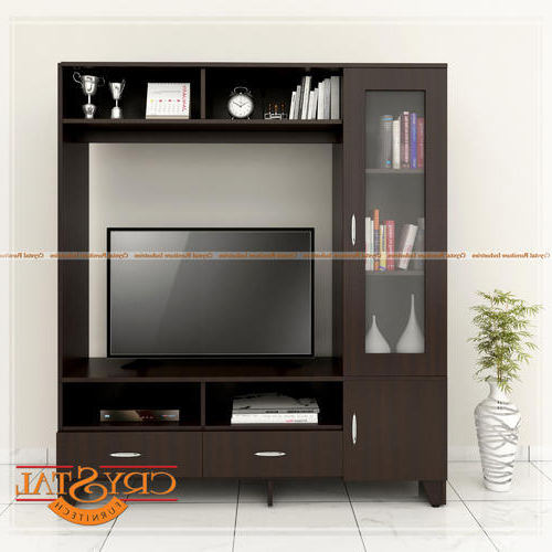 Tv Entertainment Units Regarding Most Up To Date Crystal Furnitech Engineered Wood Tv Entertainment Unit, Rs  (View 19 of 20)