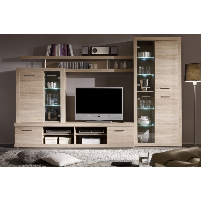 Tv Entertainment Wall Units Throughout Preferred Cancan 2 Tv Entertainment Media Center Wall Unit Set (View 18 of 20)