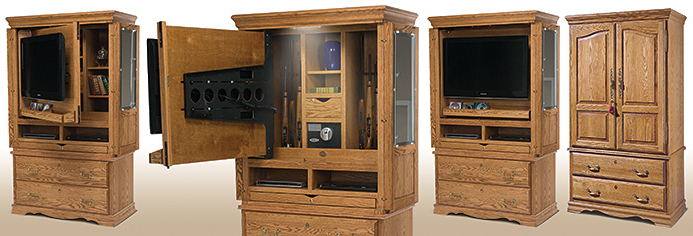 Tv Hutch Cabinets Throughout Fashionable A Tv Armoire That Doubles As A Hidden Gun Cabinet – Furniture (View 16 of 20)