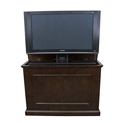 "Tv Hutch Cabinets Within Current Amazon: Touchstone 72008 Elevate Tv Lift Cabinet – 50"" Wide (View 3 of 20)"