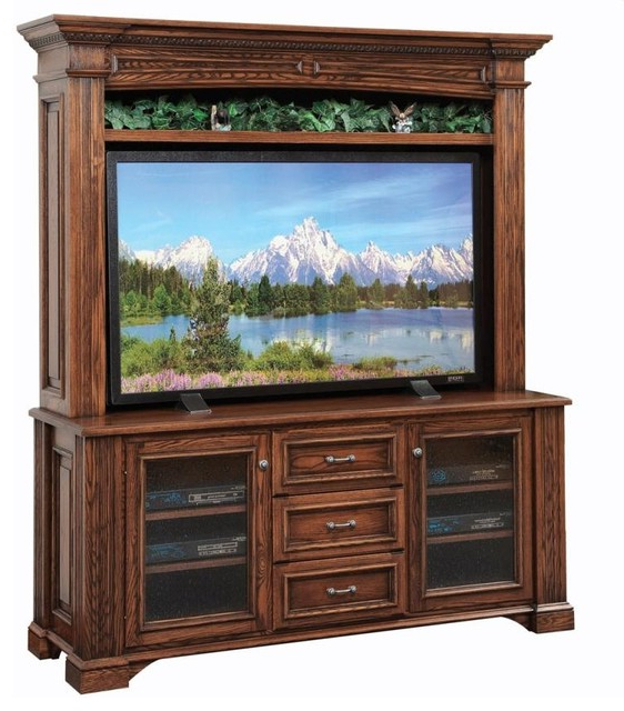 Tv Hutch Cabinets Within Widely Used Lincoln Entertainment Tv Stand And Hutch – Traditional – Media (View 2 of 20)