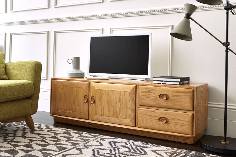 Tv & Media Cabinets – Living Room – Ercol Furniture Throughout Latest Living Room Tv Cabinets (View 17 of 20)