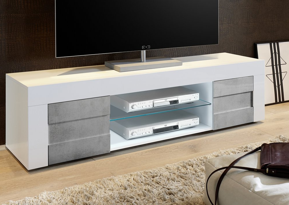 Tv & Media Units Within Fashionable Large White Tv Stands (Gallery 3 of 20)