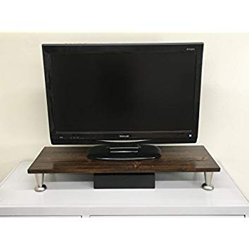 Tv Riser Stand Inside Current Amazon: Rustic Cottonwood Tv Riser Lcd Led Tv Riser Stand (View 12 of 20)