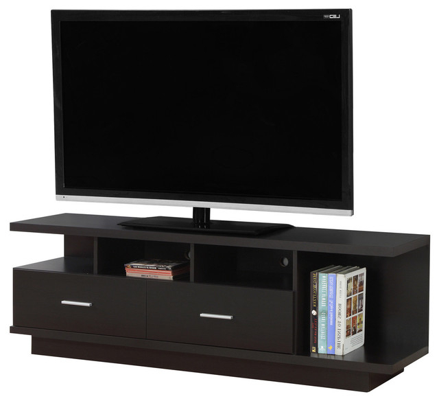 "Tv Stand, 60"" With 2 Drawer – Contemporary – Entertainment Centers Regarding Famous Valencia 70 Inch Tv Stands (View 12 of 20)"