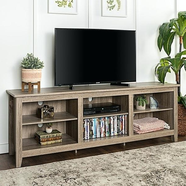 Tv Stand 70 Inch Home Inch Driftwood Stand Black Tv Stand For 70 Intended For Most Recently Released Tv Stands For 70 Flat Screen (View 13 of 20)