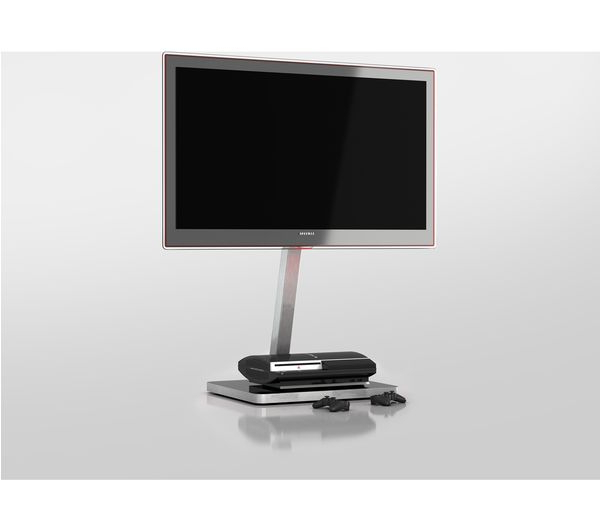 Tv Stand Cantilever Intended For Most Popular Sonorous Pl2700 Wht Cantilever 600 Mm Tv Stand – White & Silver (View 10 of 20)