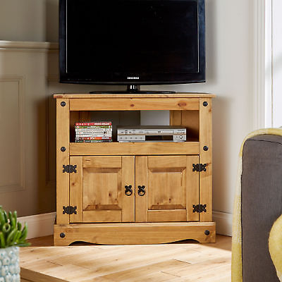 Tv Stand Entertainment Unit Solid Pine 2 Drawer Corona Television Intended For Most Recent Corona Tv Corner Unit (View 17 of 20)