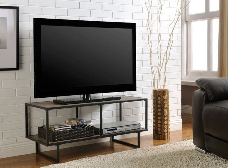 Tv Stand For 42 Inch Flat Screen Metal Entertainment Center Home Pertaining To Well Known Home Loft Concept Tv Stands (View 14 of 20)