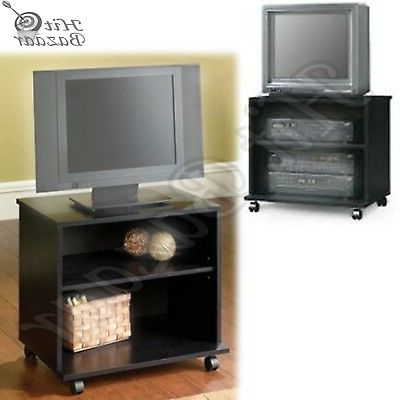 Tv Stand Portable Mobile Cart Rolling Entertainment Center Small In Preferred Small Tv Stands On Wheels (Gallery 10 of 20)