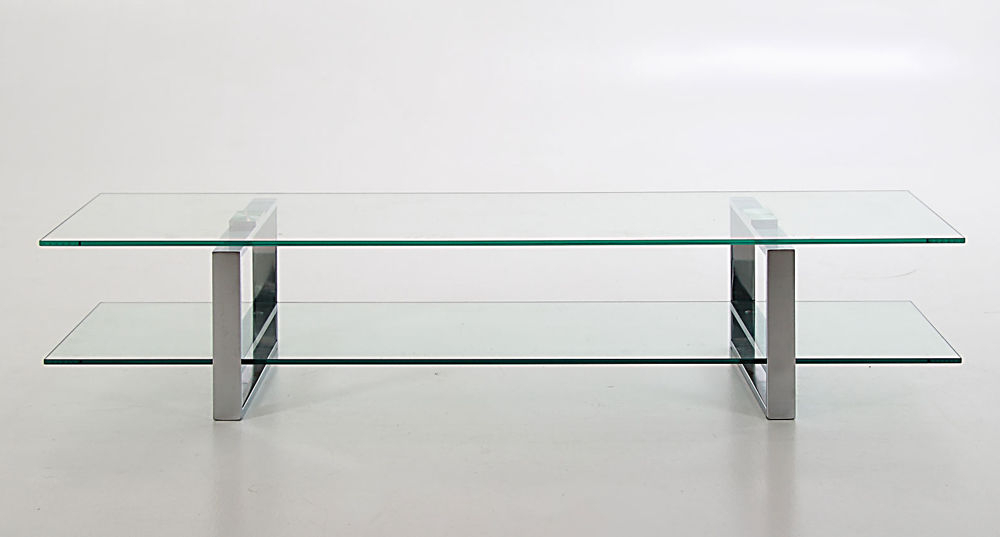 Tv Stand With Loop Legs Intended For Well Known White Glass Tv Stands (View 15 of 20)
