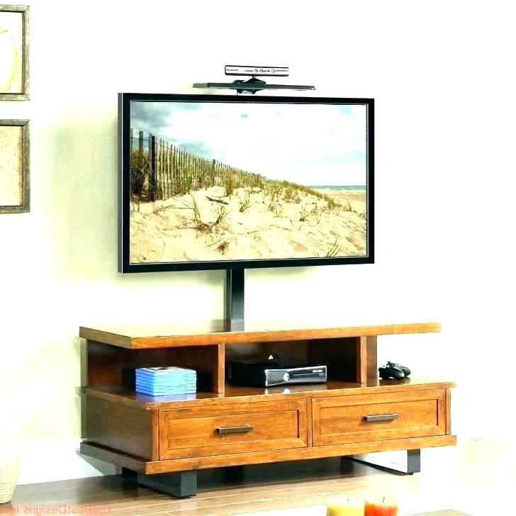 Tv Stand With Mount Beautiful Corner Stand Wall Mount For Your Home Regarding Best And Newest Tv Stands With Mount (View 11 of 20)